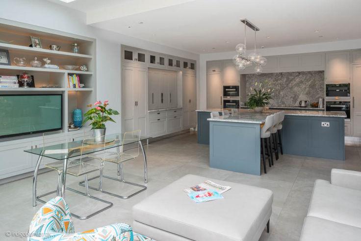 Open-Plan Kitchen Diner with Kitchen Island | London Builders